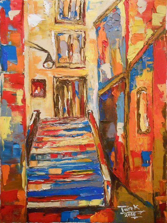 stairway - Tarek El Adley Art