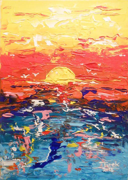 sunset - Tarek El Adley Art