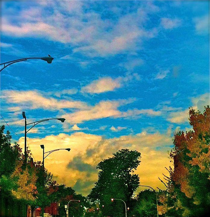 STREET LIGHTS IN AUTMUMN - Tirzah Fujii