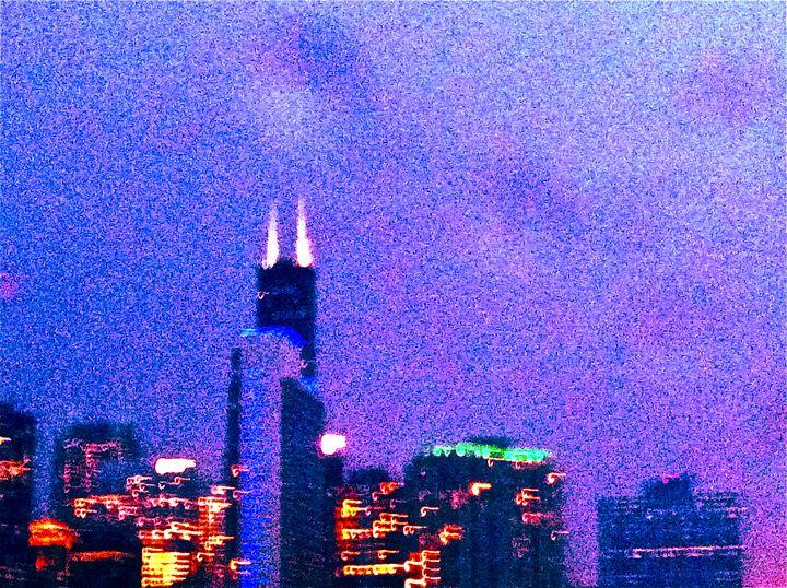 URBAN BLUR. BIG CITY LIGHTS CHICAGO - Tirzah Fujii