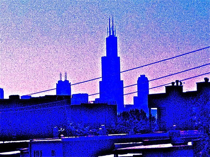CHICAGO BLUE CITY SKYLINE - Tirzah Fujii