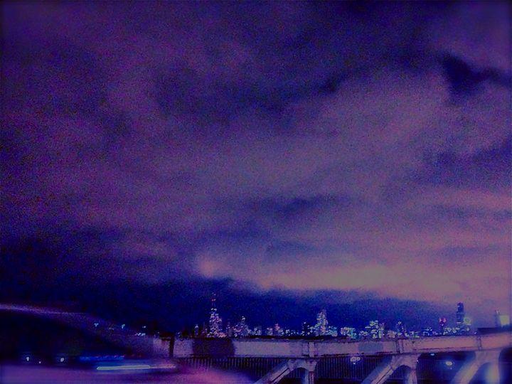 BRIDGE CROSSING UNDER CITY STORM - Tirzah Fujii