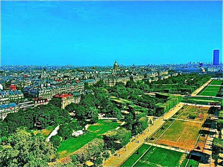 CITY OF PARIS AERIAL PANORAMA - Tirzah Fujii