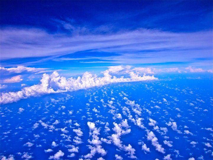 WHITE AND BLUE CLOUDSCAPE - Tirzah Fujii