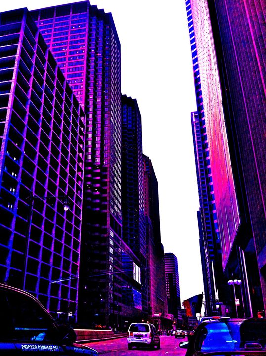 FINANCIAL DISTRICT IN PURPLE HUES - Tirzah Fujii