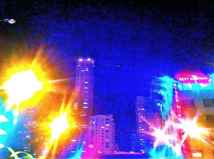 MICHIGAN AVE. BIG CITY LIGHTS UP - Tirzah Fujii