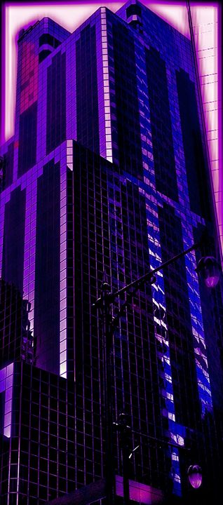 ELECTRIC PURPLE AND PINK SKYSCRAPER - Tirzah Fujii