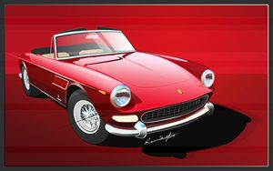 Red Ferrari - Classic Cars