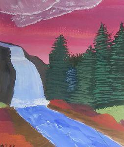Pink Skied Falls