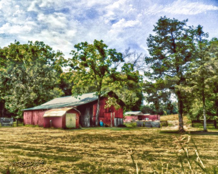 Old Barn in Tennessee - Restless D Graphics