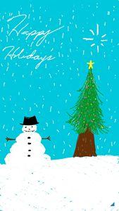 Holiday card (snowman)