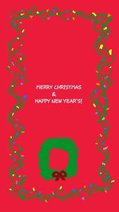 holiday card w santa and reef