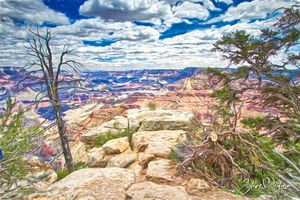 Cloudy Day in Grand Canyon