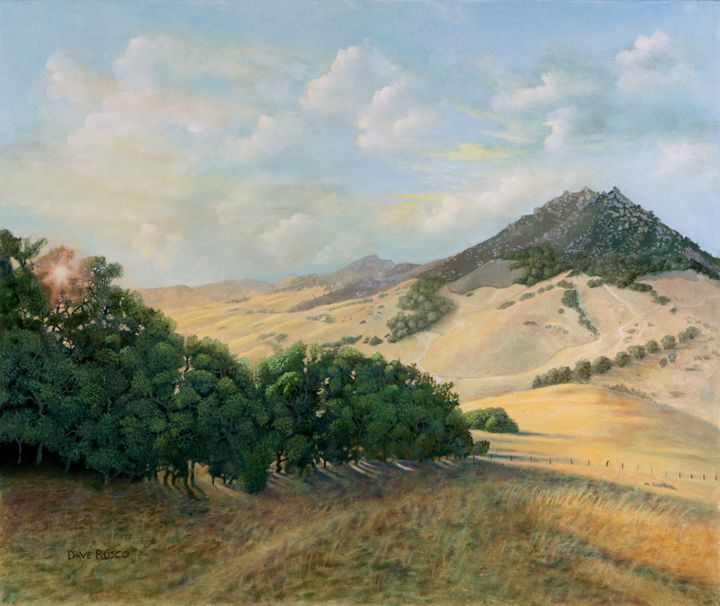 Golden Hills - Rusco Paintings
