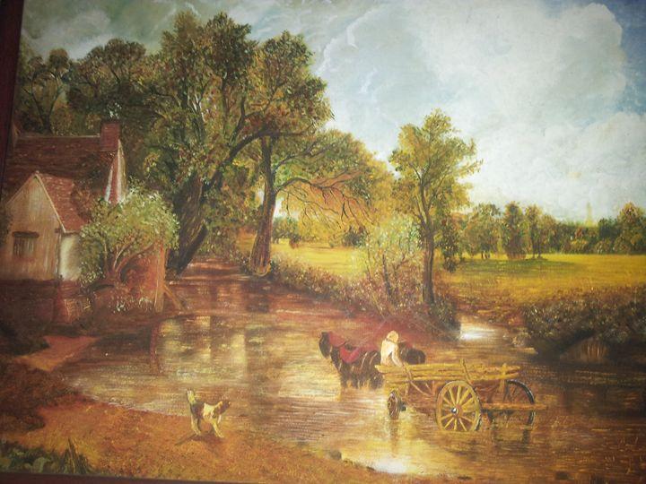 landscape oil painting on canvas - Veena Pujari