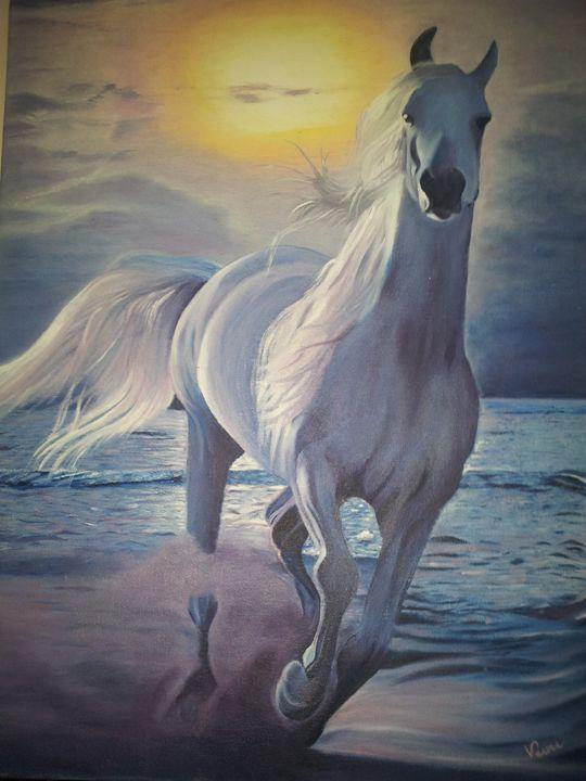 White Stallion - Veena Pujari