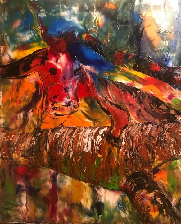 Cow in the forest - Ovidiu Muresan
