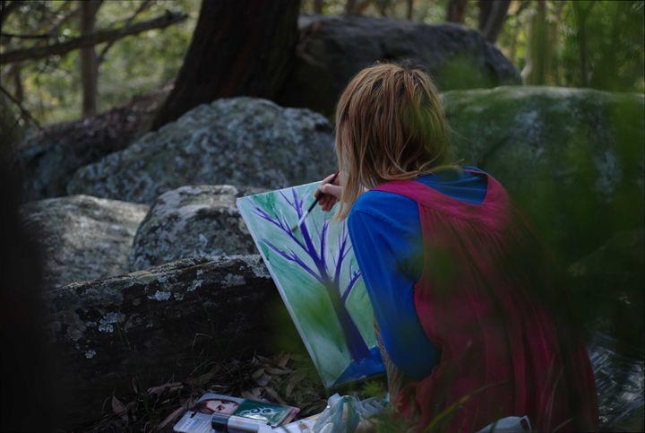 Zelda in forest - Art of Zelda