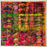 Oil (fluorescent) on canvas 91x91cm