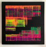 Oil (fluorescent) on canvas (91x91cm