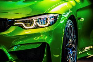 Famous green sports car