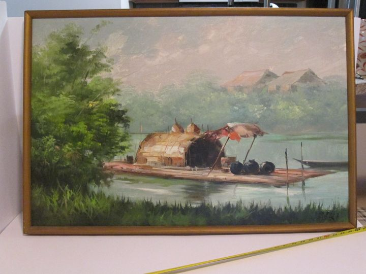sarmiento signed painting ORIGINAL - great finds gallery