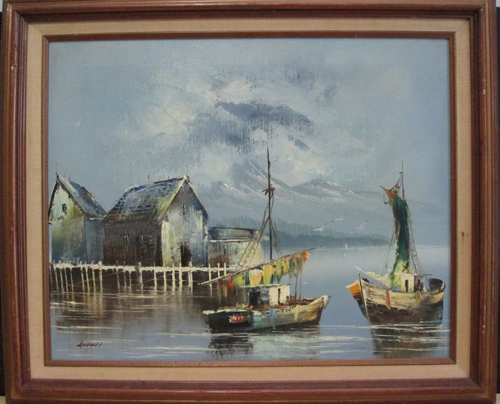 Luini italian artist signed - great finds gallery