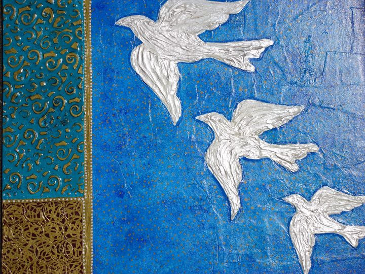 Pearl Doves - Jennifer Vazquez Art