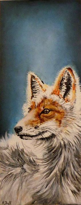 Fox in acrylics - Helen Butt