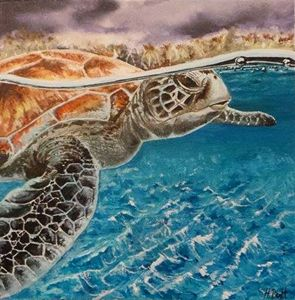 Original Turtle acrylic painting
