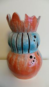 Ceramic vase/lamp - Helen Butt