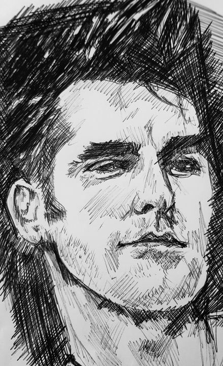 Morrissey sketch - number 1 art by Jay!