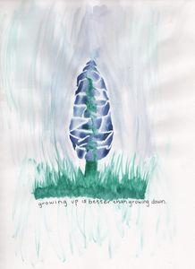blooming blue bonnet - 1derrful art