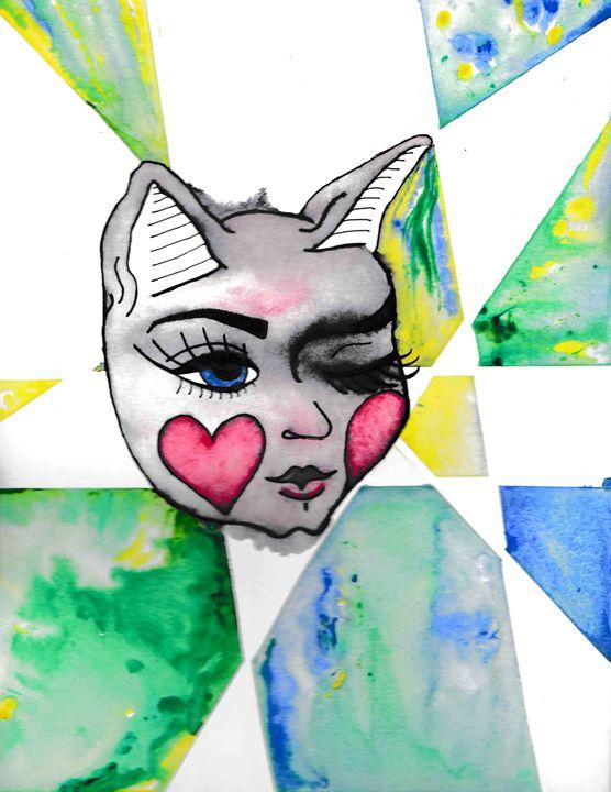 feminine feline - 1derrful art