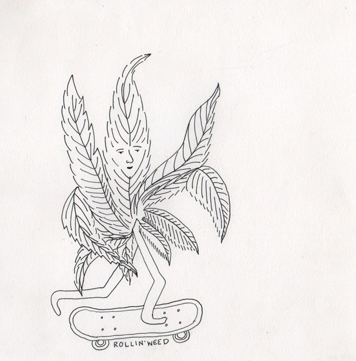 rollin' weed - 1derrful art