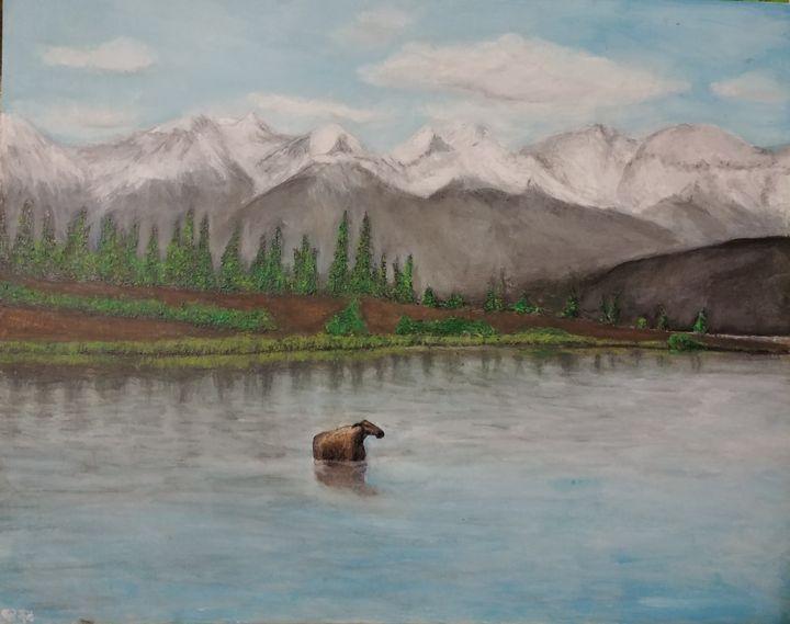 moose on the lake - H