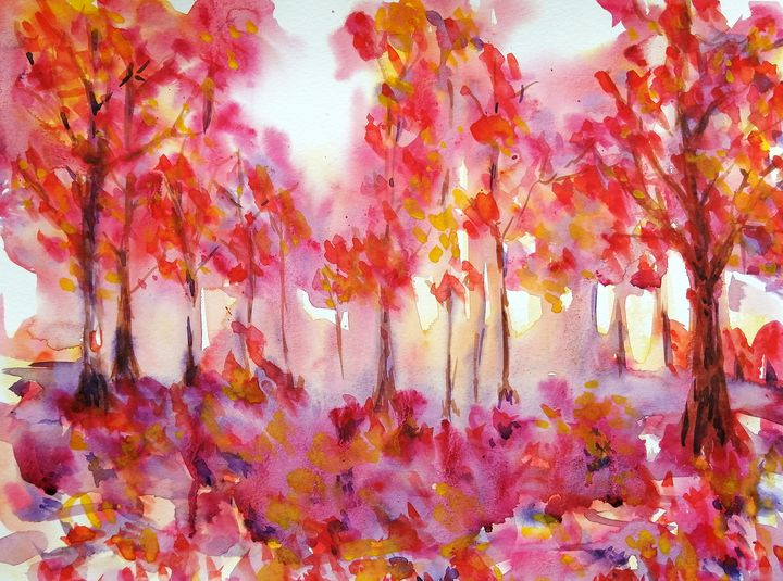 Red Leaves - J. T. Arts
