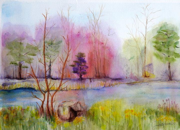 Autumn Stream - J. T. Arts
