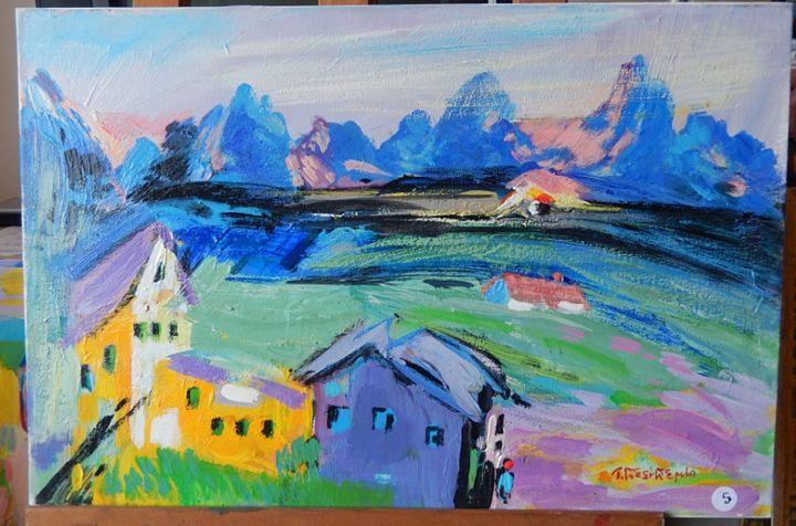Paesaggio nei pressi di Bolzano - Wilkens Hans Desiderio