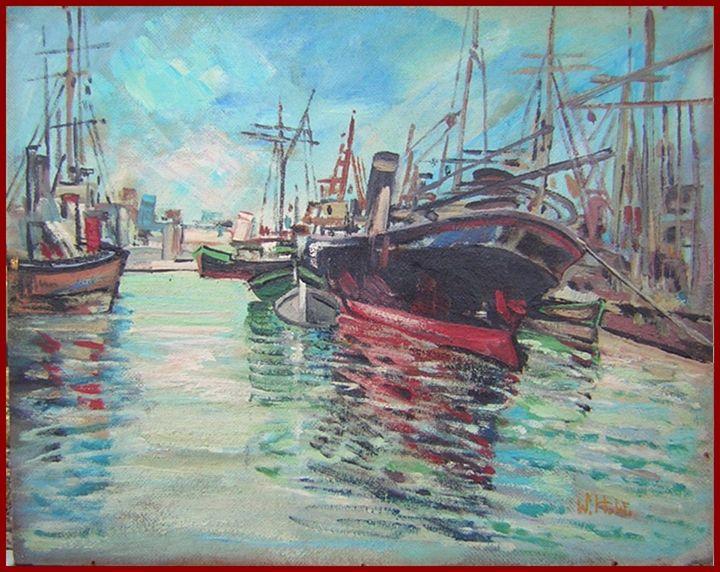 Un Porto Italiano-Livorno 1937 - Wilkens Hans Desiderio