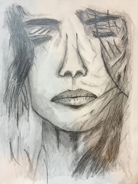 Bad Hair Day - Pencil & Paper