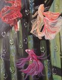 fishes done in Acrylic painting