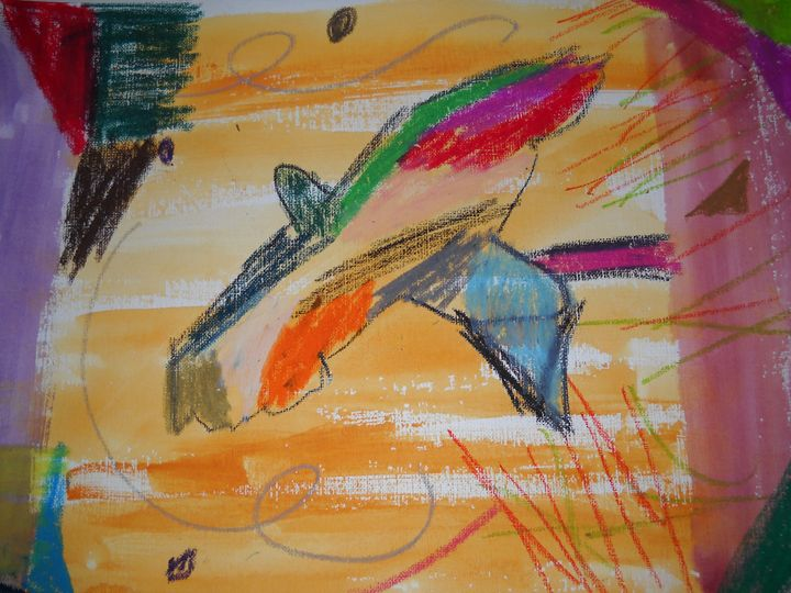 Colorful Swallow Tailed Kite - Bryanna's Autism art
