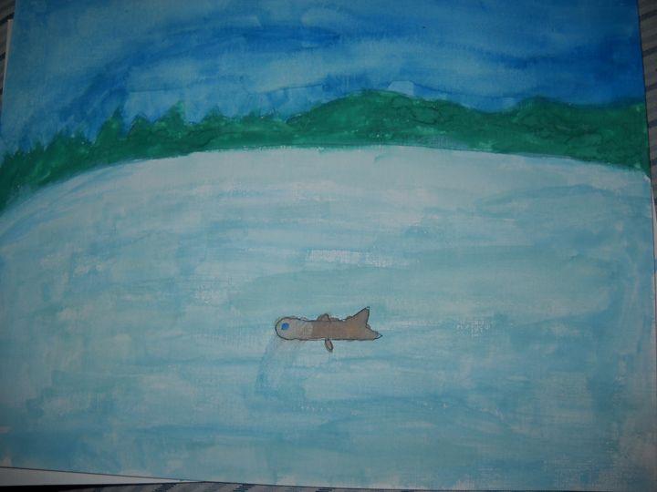 Fish in a Pond - Bryanna's Autism art