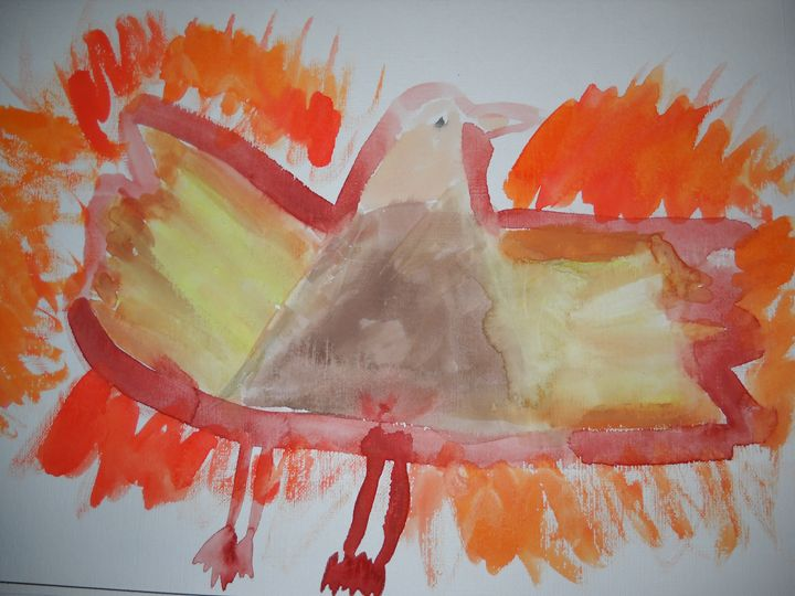 Phoenix on fire - Bryanna's Autism art