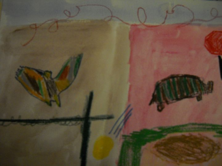Pigeon and the Tortoise - Bryanna's Autism art