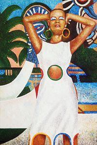 Original large acrylic painting