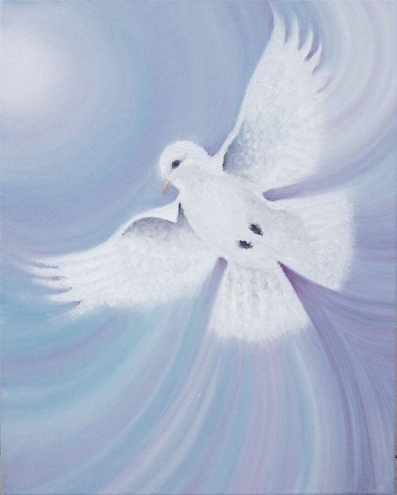Dove - Original Oil Painting - JaneSpanArt