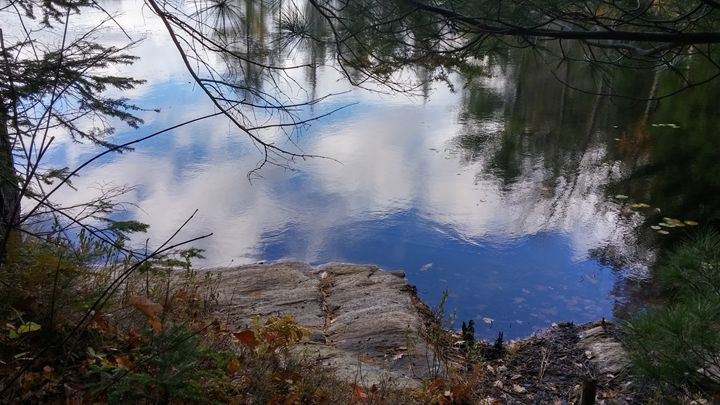 Reflection of clouds on pond's surfa - iGallery