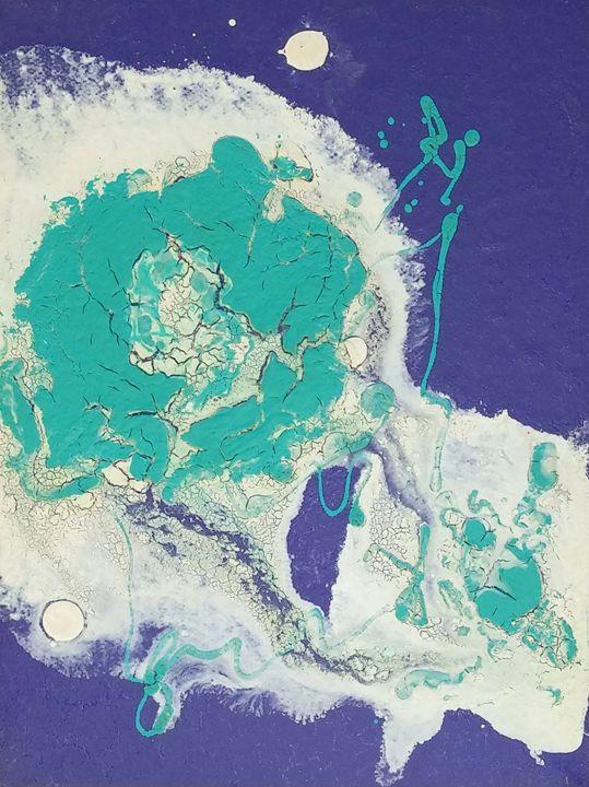 Nebula painted with crackle-glazes 2 - iGallery